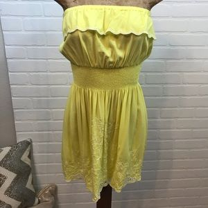 Gianni Bini Strapless Ruffle Lace Dress Sz Small